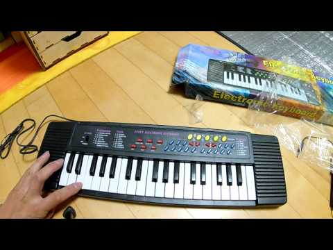 37 Key Keyboard Electronic Digital Piano For Beginner Toy Gift With Microphone