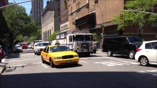NYPD EMERGENCY SERVICES UNIT TRUCK TWO, NPYD ESU ON WEST 75TH STREET AND AMSTERDAM AVENUE IN NYC.