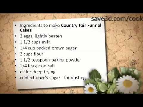 Secret Recipe - How to make Country Fair Funnel Cakes ...