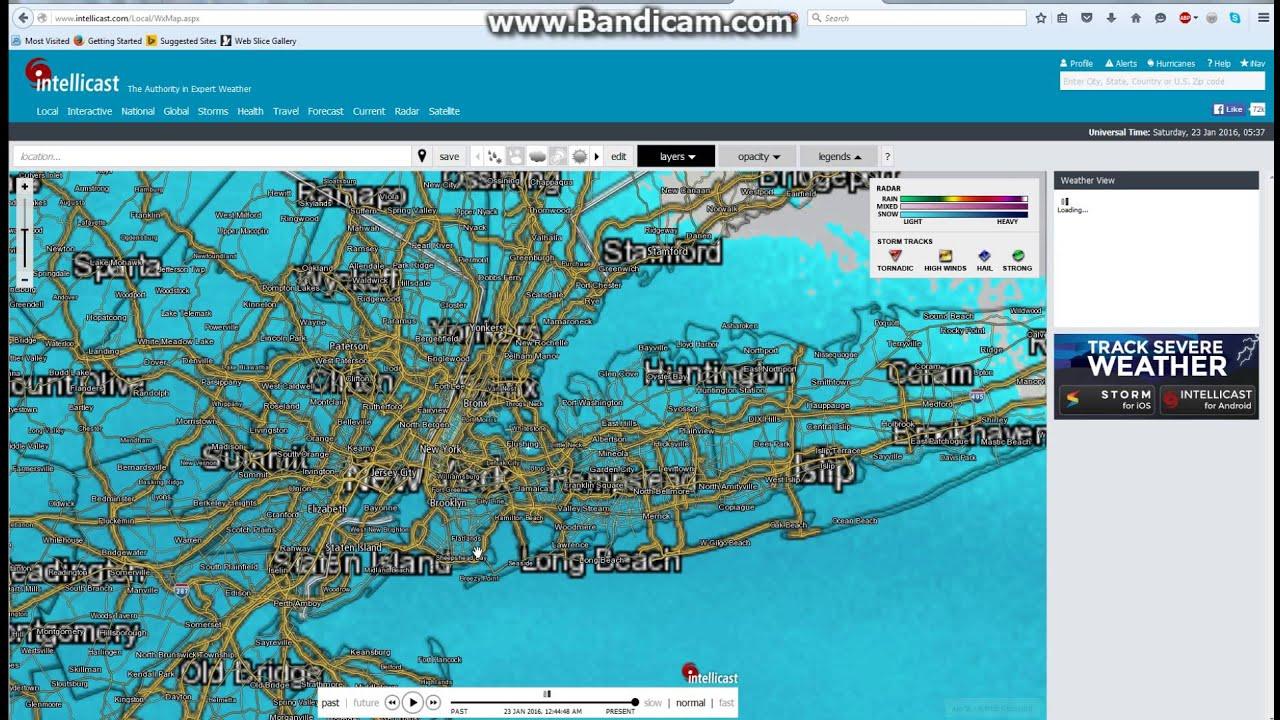 Blizzard Jonas In New York City January January Update - Asp map nyc