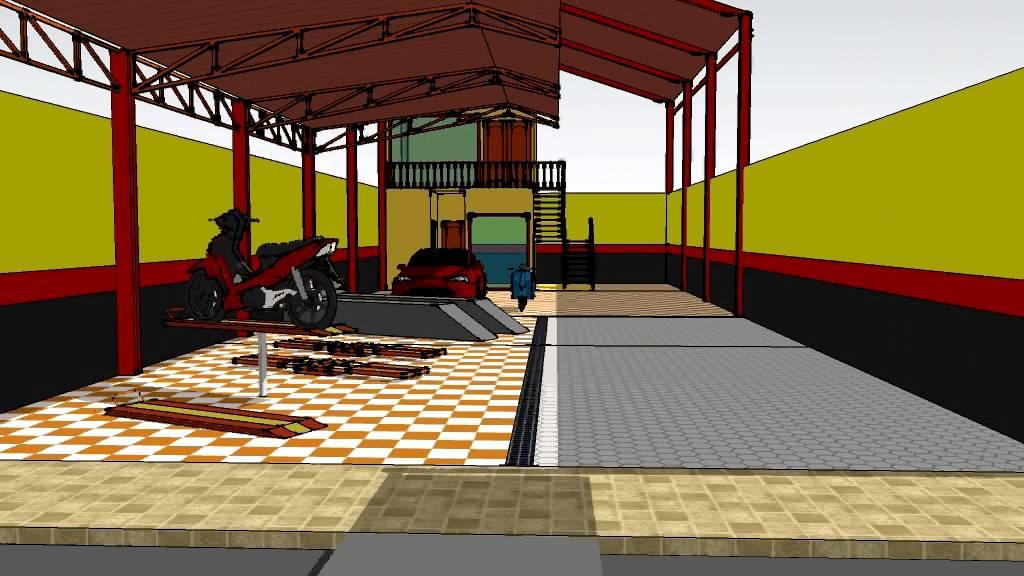 gambar 3D bangunan hidrolik cuci motor dan hidrolik cuci ...