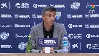Rueda de prensa de Pep Martí tras el Málaga CF vs RC Deportivo (0-1)