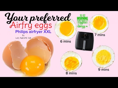 Your perfect airfry egg in Philips AirFryer XXL Avance - How to air fry eggs