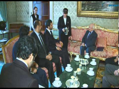 الرئيس الايرلندي يستقبل عبدالله بن زايد