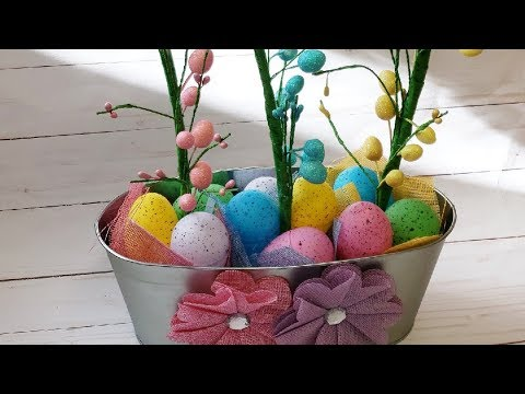 Easter Tree DIY Using Dollartree & 99centsonly Items🐇🐰💗