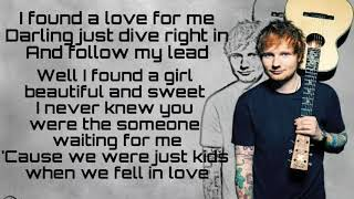 Perfect- Ed Sheeran [lyrics]