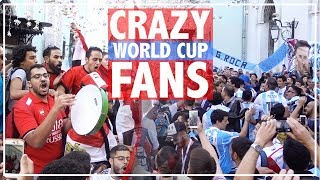 In Moscow RUSSIA for 2018 FIFA WORLD CUP, Football FANS from around the world aficionados 俄罗斯世界杯球迷狂欢