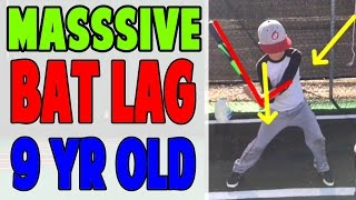 9 Year Old PSB Student Learns Massive Bat Lag (Pro Speed Baseball)