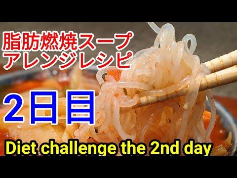 脂肪燃焼スープ 作り方 ダイエット チャレンジ【2日目】アレンジ レシピ!