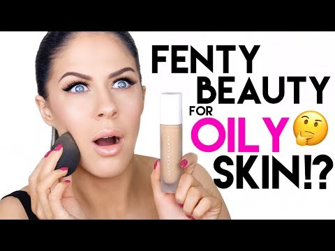 FENTY BEAUTY PRIMER, FOUNDATION & POWDER FOR OILY SKIN!!?? HONEST AF REVIEW & WEAR TEST!!!!