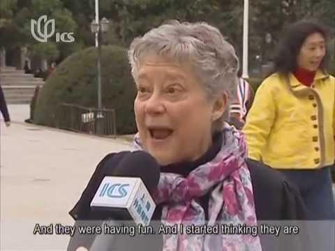 American grandma does morning dances in Shanghai