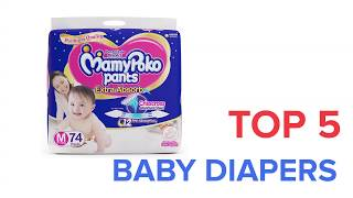 Top 5 Baby Diapers in India