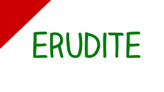 Learn English Words - Erudite (Vocabulary Video)
