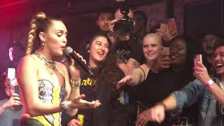 Miley Cyrus Nothing Breaks Like a Heart live in Heaven Night Club London 071218