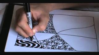 How to Draw a Tangle Doodle Part 2