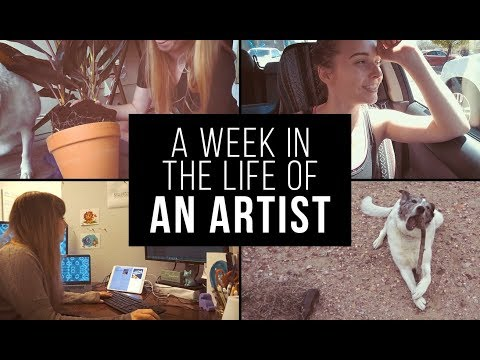 A WEEK IN THE LIFE OF AN ARTIST | How I balance my life (Full Time Job & Youtube)
