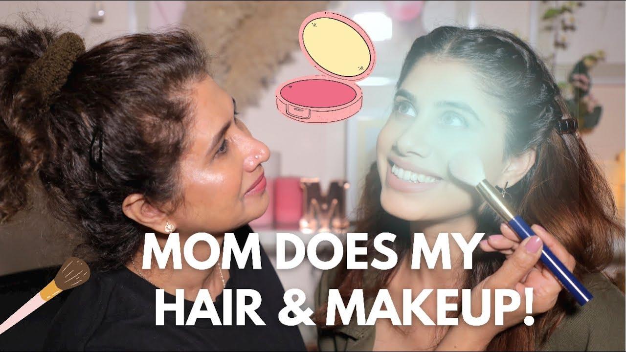 Download MOM DOES MY HAIR & MAKEUP! FUNNY AF! | Malvika Sitlani Aryan
