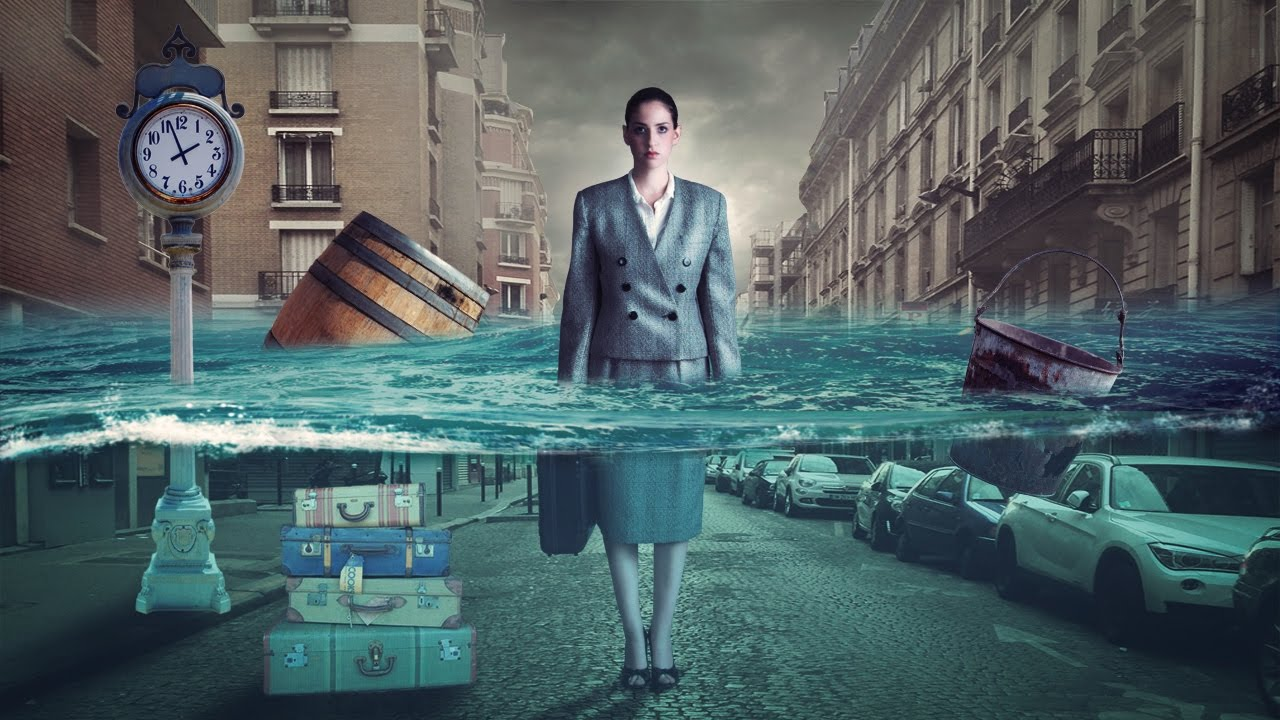 city underwater photo manipulation | photoshop tutorial
