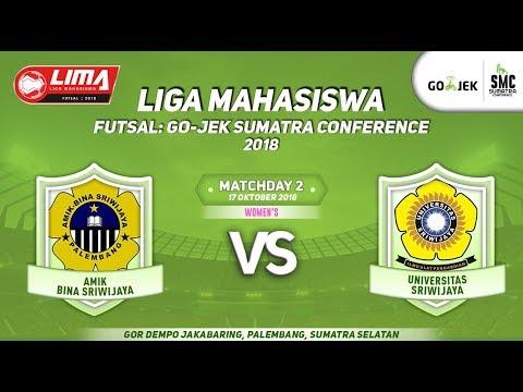 WOMENS BINAS VS UNSRI LIMA Futsal : GOJEK SUMATRA CONFERENCE 2018