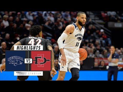 No. 6 Nevada vs. San Diego State Basketball Highlights (2018-19) | Stadium