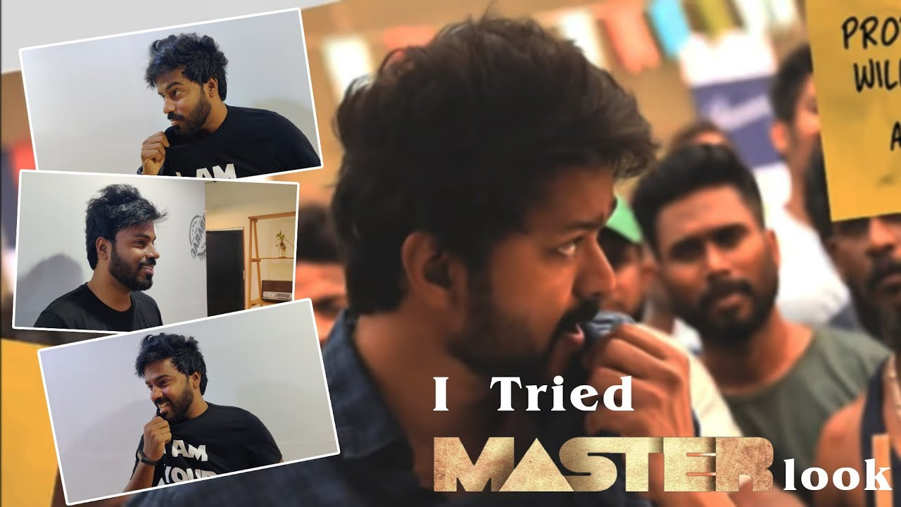 Thalapathy Master Hairstyle Transformation The Garage Saloon Youtube