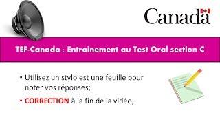 TEF CANADA : Préparation 1 au Test de Compréhension Orale section C