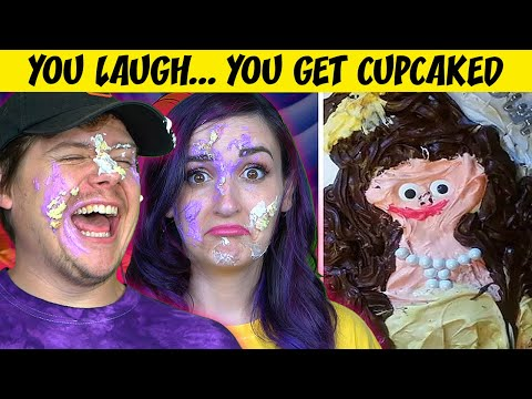 Try NOT To LAUGH Challenge (Cupcake to the Face Edition)