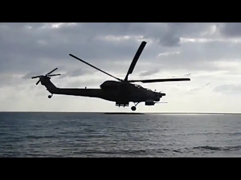 Mi-28 in Tartous Beach