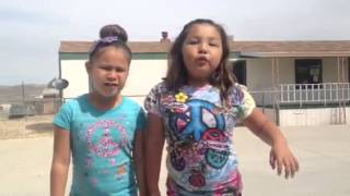 Two Navajo Sweeties Singing Let It Go