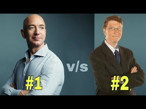 Jeff Bezos Vs Bill Gates Net Worth 2018 Bussiness Family