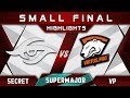 Secret vs VP [GREAT GAME] China Supermajor 2018 Highlights Dota 2
