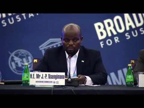Hon J.P Nsengimana, Acting Co-Chair - Opening Remarks at 13th Broadband Commission Meeting, Dubai