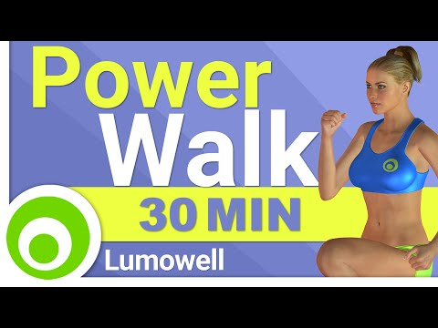Fat Burning Power Walk Workout at Home 30 Minute Walking Exercises for Weight Loss