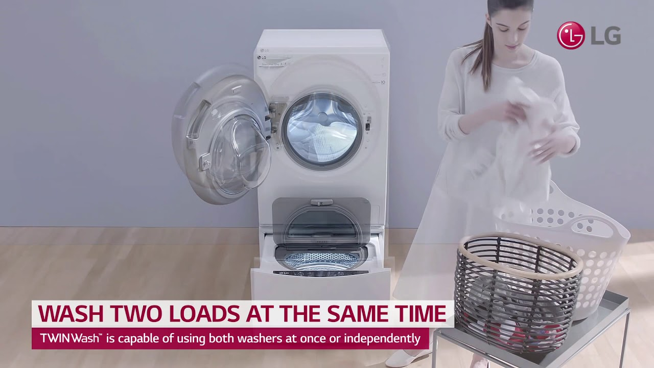 LG TWINWash User Scene Video Wash Two Loads at The Same Time