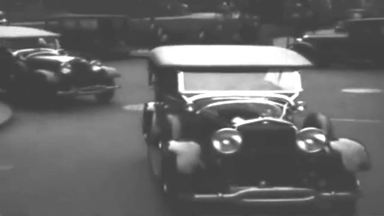 Detroit Police Motorcade of Ford Radio Cars, circa 1928 (full)