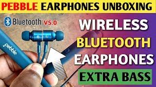 Pebble Spirit Loop earphone unboxing in hindi best bluetooth earphones under 1299 Pebble