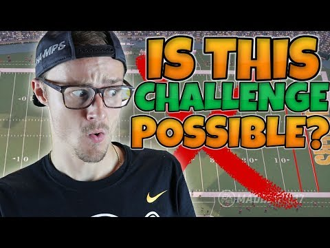 CAN I COMPLETE THE IMPOSSIBLE 95 YARD ONLINE CHALLENGE?? Madden 17 Challenge