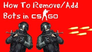 How to add/remove bots in CSGO