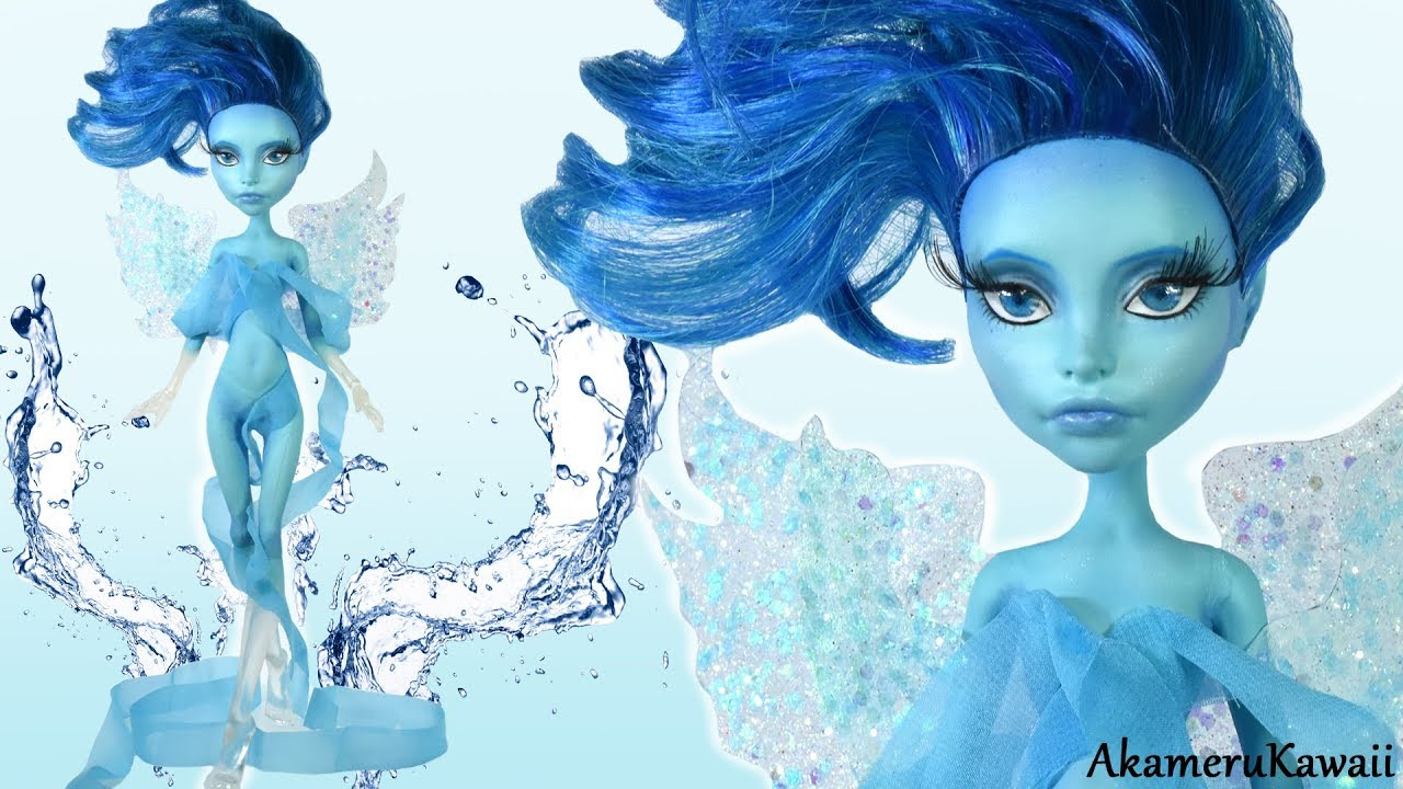 How to: Water nymph / Water Fairy Figurine - Doll Repaint ...