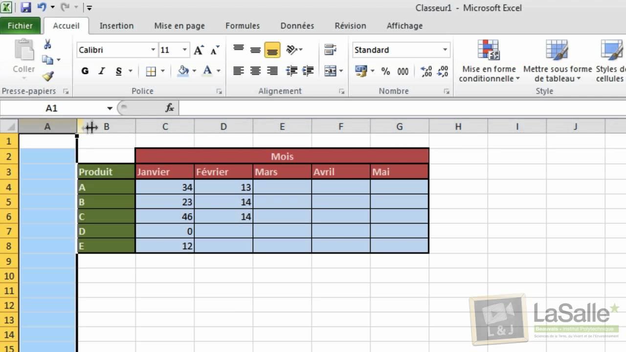Microsoft Excel 2010 Mise En Forme De Tableaux E04 Youtube