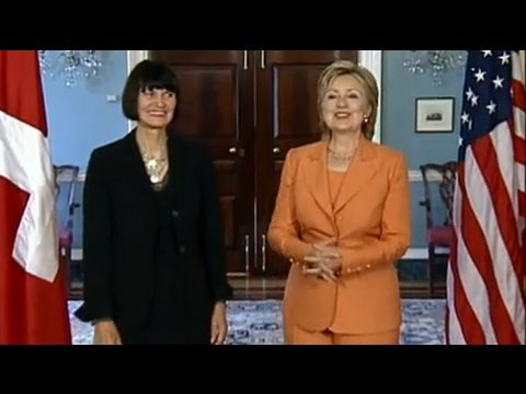 Secretary Clinton Meets With Swiss Chief of the Federal Department of Foreign Affairs