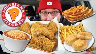 MUKBANG 먹방 | Popeyes $30 Holiday Feast | My First Jobs