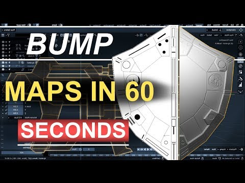 Blender 2.8 : Bump Maps In 60 Seconds!!! (Gimp-Tutorial) thumbnail