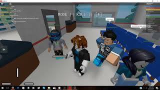 Roblox Exploiting #1 : Hospital roleplay grab knife v3 trolling! !
