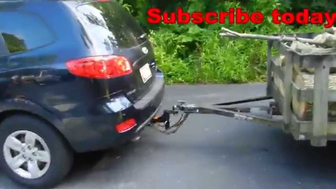Installing a Trailer Hitch on a Hyundai Santa Fe Final YouTube