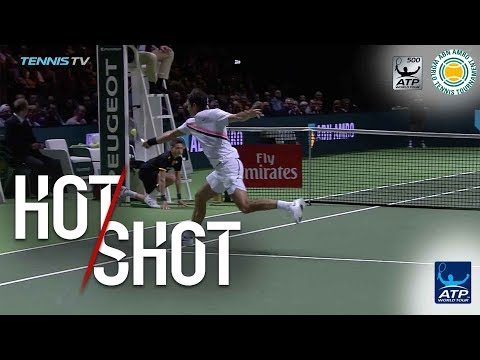 Watch: Federer Produces Magical Angle For Rotterdam 2018 Hot Shot