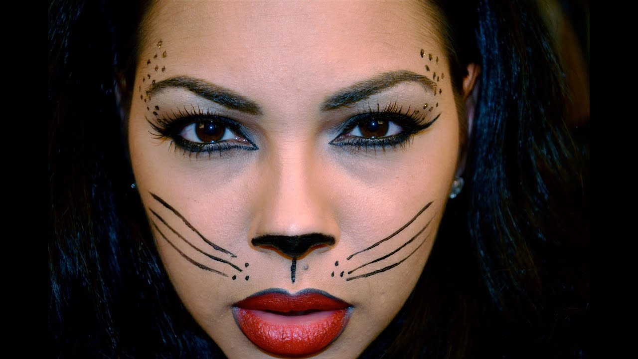 Sexy Cat Halloween Makeup Tutorial - YouTube