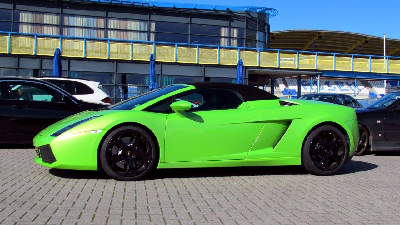 lamborghini gallardo spyder starting superleague formula 2011 paddock 720p hd - Lamborghini Gallardo Spyder Green