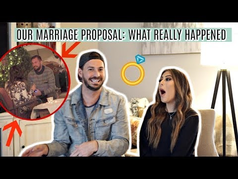 REACTING TO OUR MARRIAGE PROPOSAL: WHAT REALLY HAPPENED STORYTIME