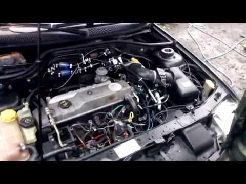 Обзор и запуск Ford Escort 1.8 tdi с дополнительным электронасосам